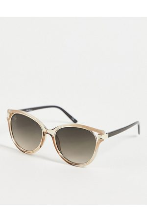 Jeepers Peepers Women's round sunglasses in gold