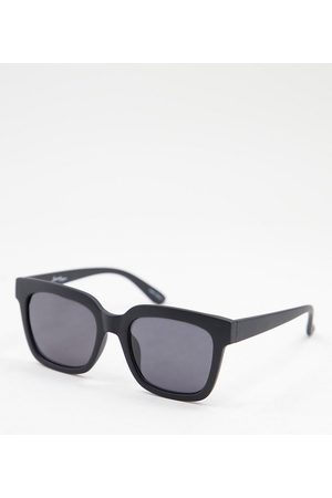 Jeepers Peepers Women's square sunglasses in black - exclusive to ASOS