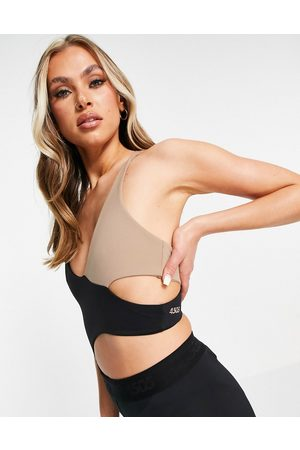 ASOS 4505 yoga body with cut out and wrap detail-Multi