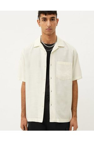 Weekday Chill short sleeve shirt in white