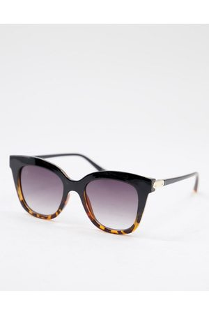 Jeepers Peepers Women's square sunglasses in black/tort