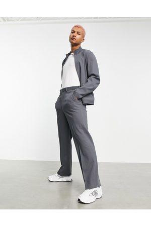 ASOS Co-ord smart wide leg pants in grey crinkle