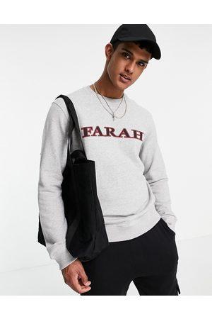 Farah Palm chest logo sweatshirt in grey