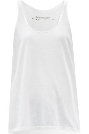 Another Tomorrow - Scoop-neck Organic Cotton-jersey Tank Top - Womens