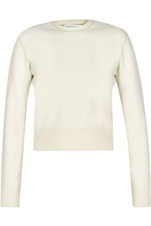 Bottega Veneta - Contrast-stitch Knitted Sweater - Womens - Cream