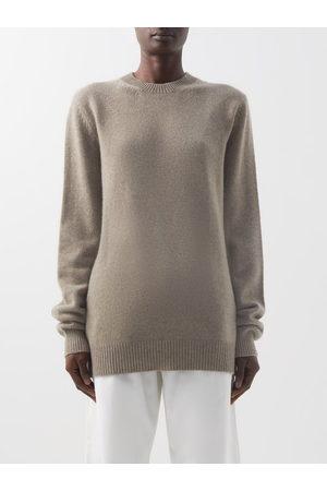 Raey - Crew-neck Recycled-cashmere Boyfriend Sweater - Womens - Light