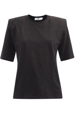 The Frankie Shop Carrington Padded-shoulder Organic-cotton T-shirt - Womens