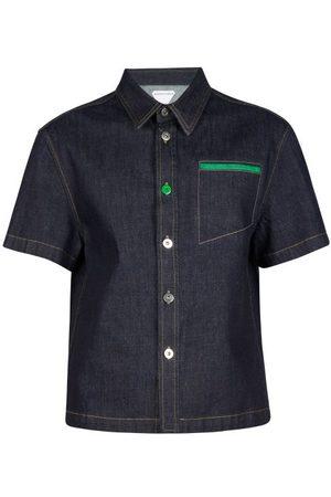Charvet Men Shirts - Stand-collar Striped Cotton-poplin Shirt - Mens