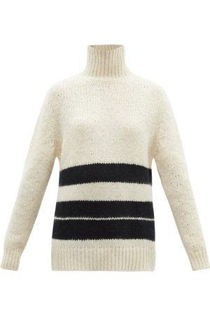 Jil Sander - High-neck Striped Mohair-blend Sweater - Womens