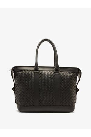 Bottega Veneta Intrecciato-woven Hydrology-leather Tote Bag - Mens