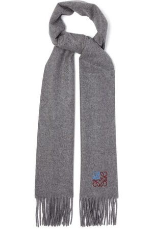 Loewe Anagram-embroidered Cashmere Scarf - Mens