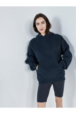 Raey Elasticated Waist Jersey Cycling Shorts - Womens - Dark Navy