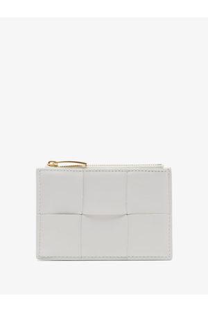 Bottega Veneta Cassette Woven Leather Cardholder - Womens