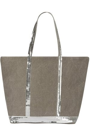 Vanessa Bruno Women Tote Bags - Linen and Sequins L zipped Cabas Tote
