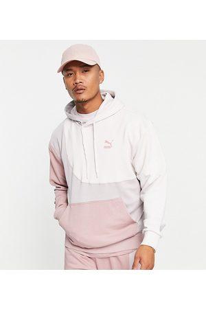 Puma Convey hoodie in pink color-block - Exclusive to ASOS