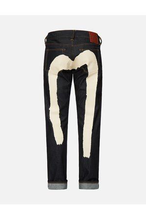 Evisu Ecru Brushstroke Daicock Slim Fit Jeans #2010
