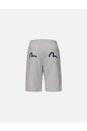 Evisu Seagull Print Sweat Shorts