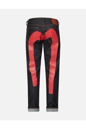 Evisu Red Brushstroke Daicock Slim Fit Jeans #2010