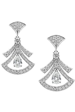 Bvlgari Divas' Dream 18K & Diamond Drop Earrings