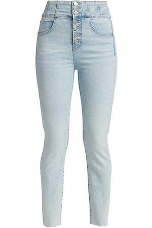 VERONICA BEARD Katherine High-Rise Corset Skinny Jeans