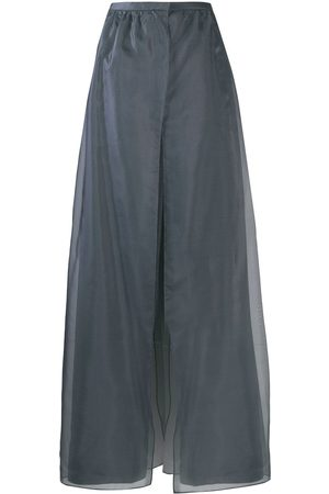 Armani Overlapping organza panels trousers