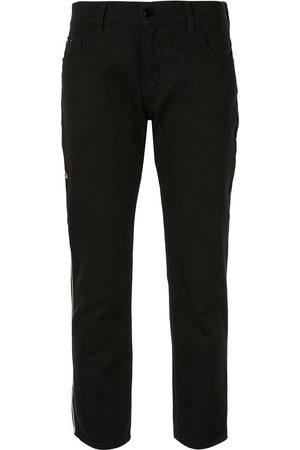 Emporio Armani Women Skinny - Logo embroidered trousers