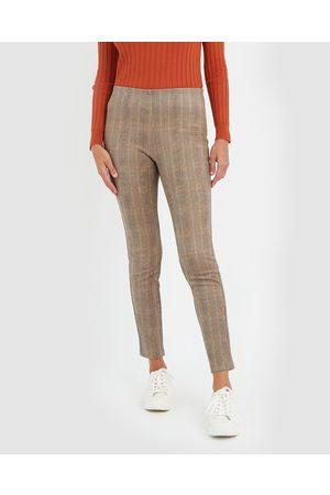 Forcast Arlene Check Stretch Pants - Pants (Multi) Arlene Check Stretch Pants