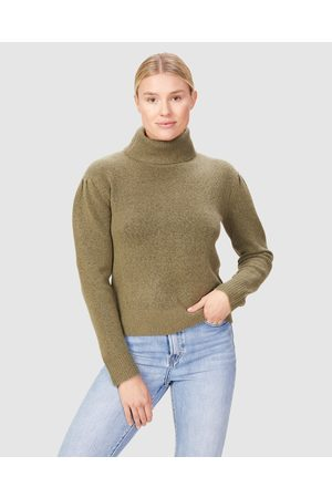 French Connection Balloon Sleeve Knit - Jumpers & Cardigans (WASHED OLIVE) Balloon Sleeve Knit