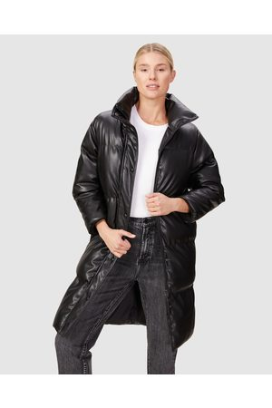 French Connection Leather Look Longline Puffer - Coats & Jackets Leather Look Longline Puffer