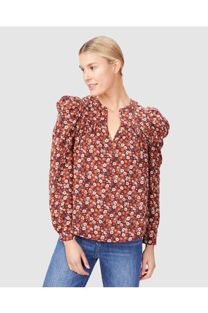 French Connection Ruffle Shirt - Tops (SEVENTIES FLORAL) Ruffle Shirt
