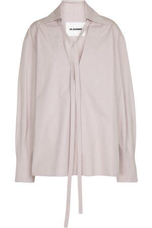 Jil Sander Cotton poplin blouse in