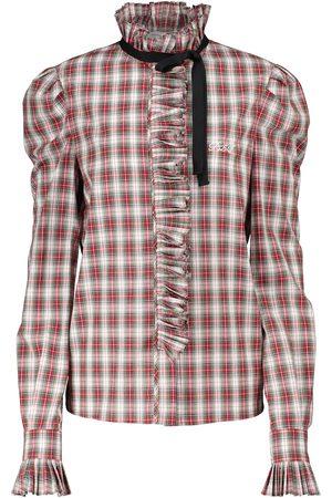 Serafini Women Blouses - Checked cotton blouse