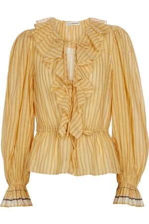 ULLA JOHNSON Kalila striped cotton blouse