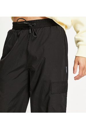 COLLUSION Cargo Pants - Nylon cargo pants with pockets in black