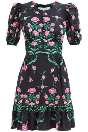 La DoubleJ Coquette Rosa-print Sablé Mini Dress - Womens