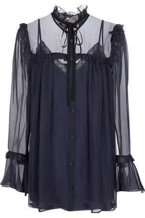 Gucci Ruffled silk chiffon blouse