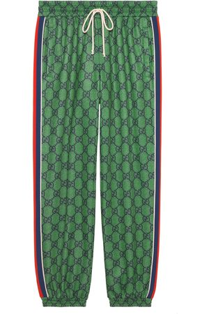 Gucci GG jersey jogging trousers with Web