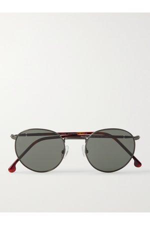 LORO PIANA Men Sunglasses - Weekend Round-Frame Gold-Tone and Acetate Polarised Sunglasses