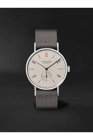 Nomos Glashütte Tangente 38 Limited Edition Hand-Wound 37.5mm Stainless Steel and Canvas Watch, Ref. No. 165.S50