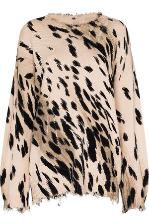 R13 Oversize cheetah jumper