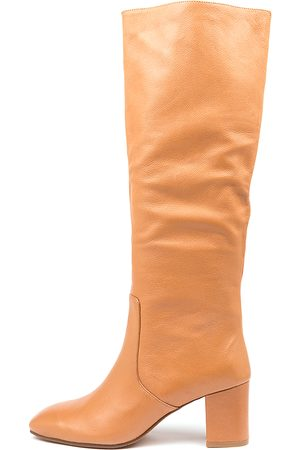 Mollini Liuna Mo Dk Tan Boots Womens Shoes Casual Long Boots