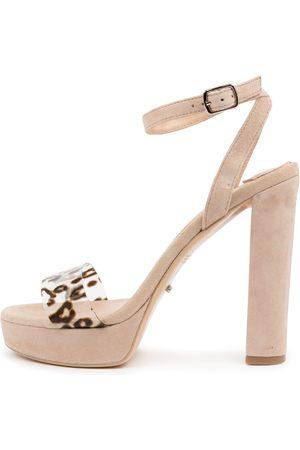 Tony Bianco Luela Tb Blush Leopard Sandals Womens Shoes Dress Heeled Sandals