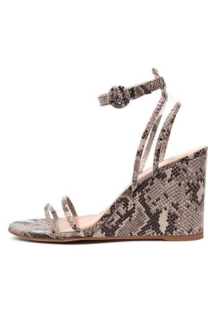 Mollini Emmia Mo Taupe Clear Sandals Womens Shoes Casual Heeled Sandals