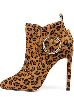 Mollini Jeonju Tan Ocelot Boots Womens Shoes Dress Ankle Boots