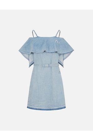 Evisu Two Way Cold Shoulder Denim Dress