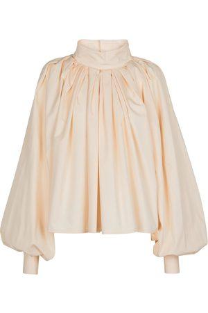Jil Sander Pleated cotton blouse