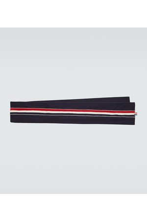 Thom Browne Jersey stitched wool scarf