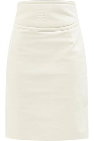 Givenchy 4g-embossed Cutout Leather Pencil Skirt - Womens