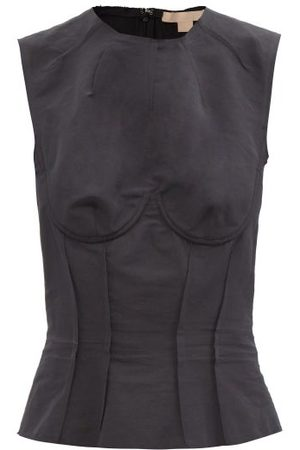 BROCK COLLECTION Thao Cotton-blend Canvas Bustier Top - Womens