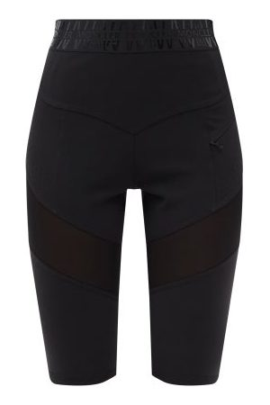 Moncler Logo-waistband Technical-jersey Cycling Shorts - Womens